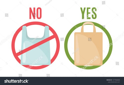 small resolution of plastic bag and eco bag in flat style isolated on white background pollution problem concept care environment vector illustration vector