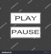 Pause Sign Icon Player Navigation Button Circle Flat - Year