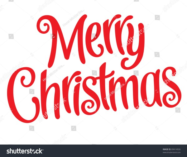merry christmas lettering clip