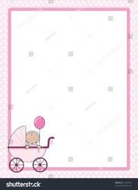 Polka Dot Border Baby Girl Carriage Stock Vector 11020375 ...