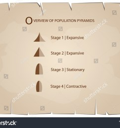 population and demography illustration set of 5 types of population pyramids chart or age structure [ 1500 x 1191 Pixel ]