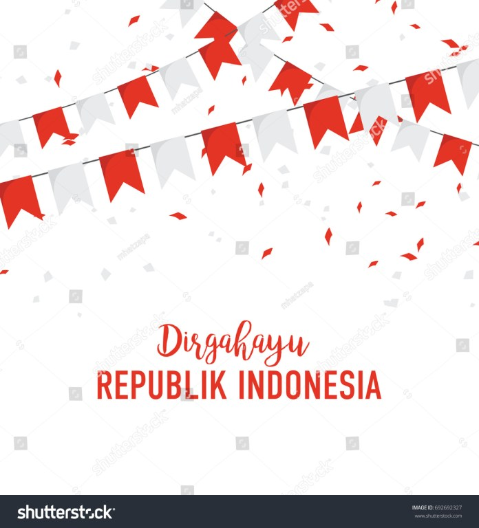 Poster Banner Indonesian Independence Day Festival Stock Vector Royalty Free 692692327
