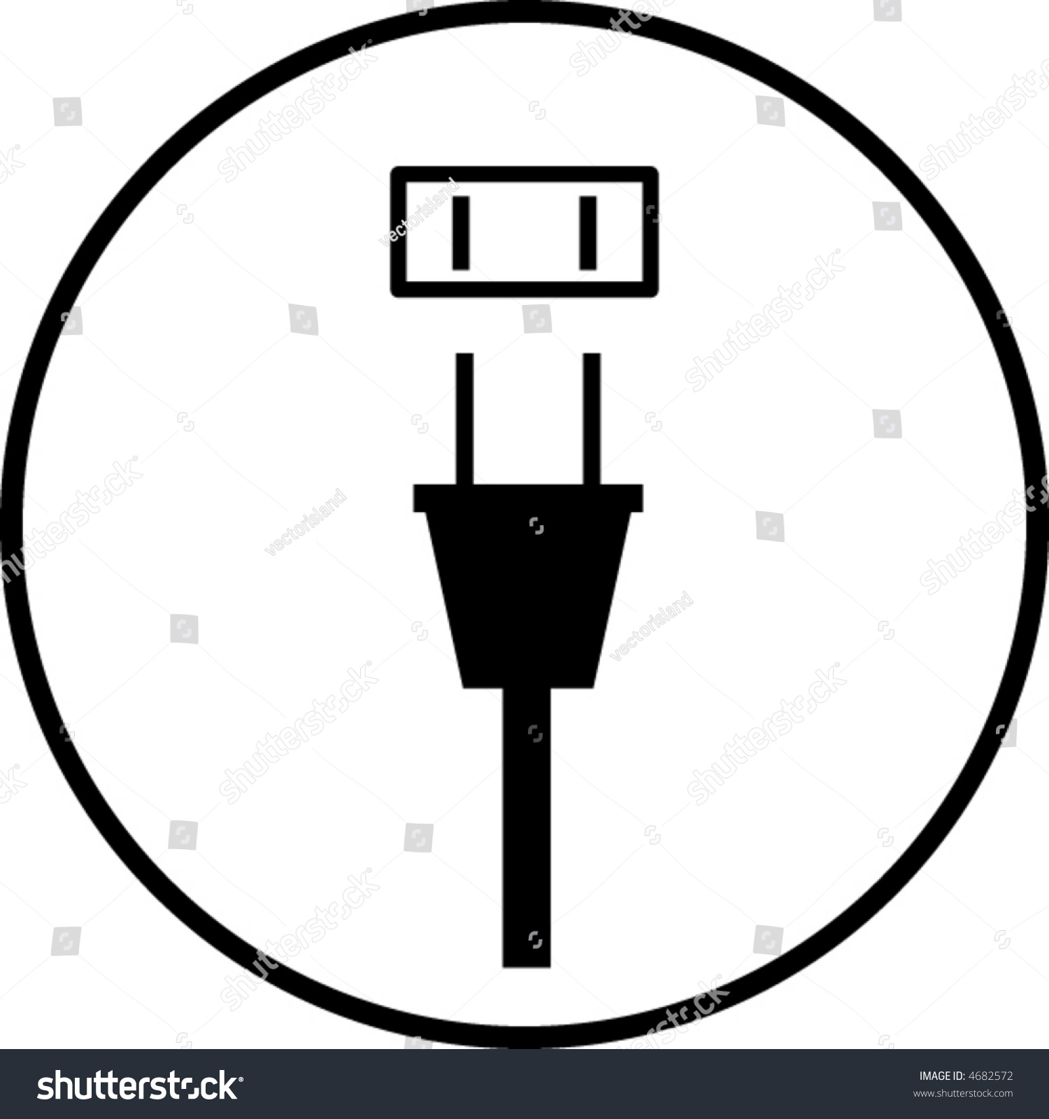 outlet symbol diagram 3 way switch pilot light wiring power plug stock vector 4682572 shutterstock