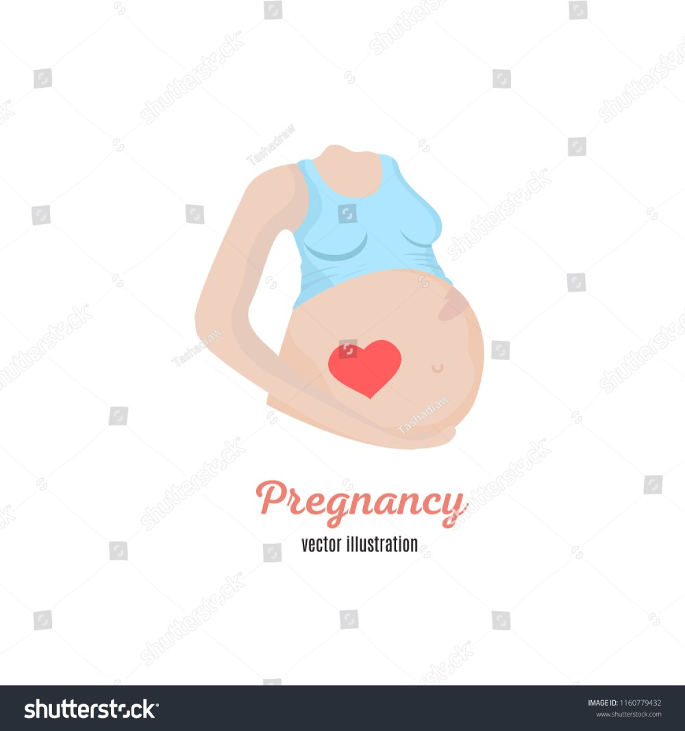 medium resolution of pregnancy woman diagram illustration vector illustration in flat hand drawn line art cartoon