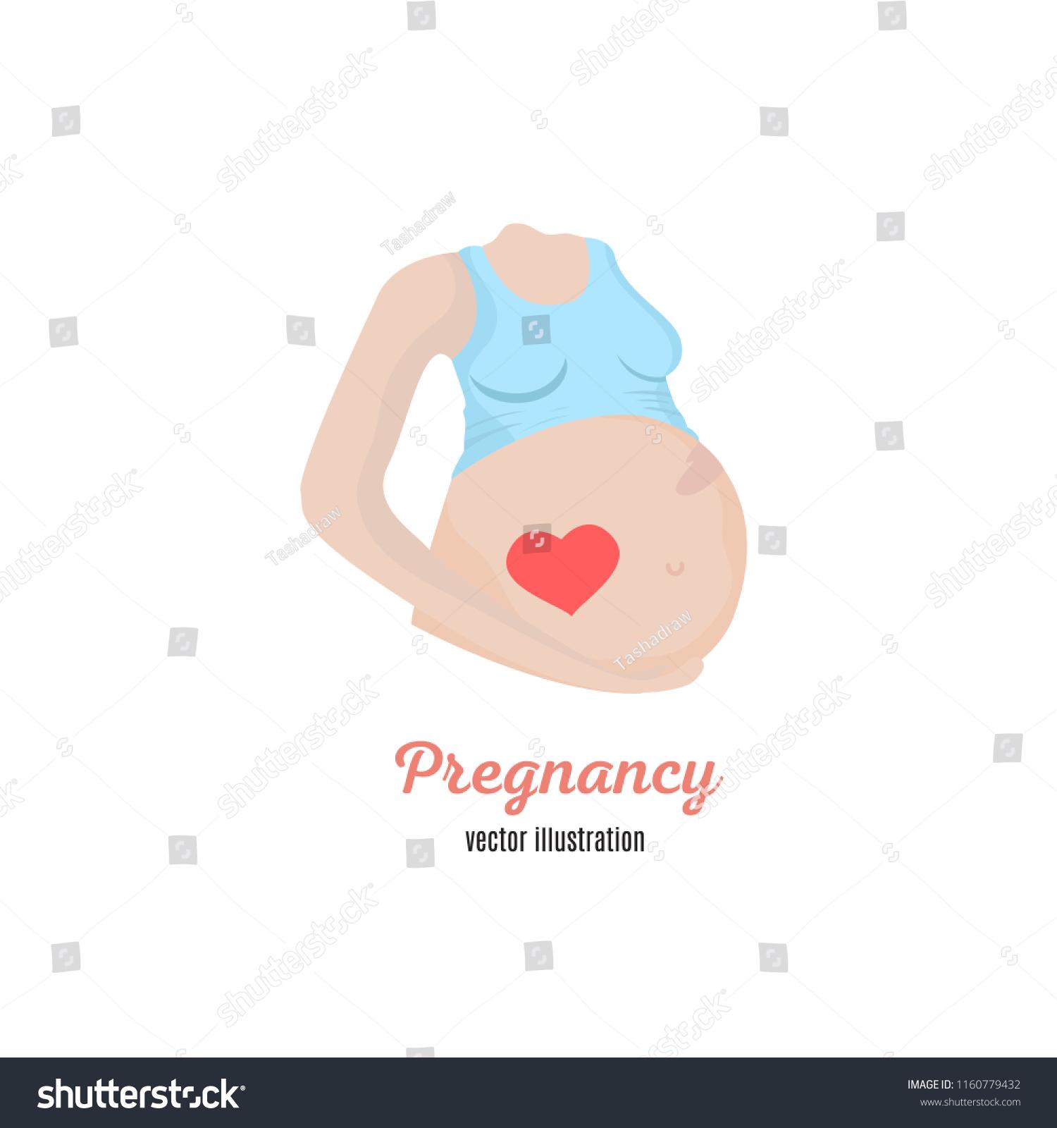 hight resolution of pregnancy woman diagram illustration vector illustration in flat hand drawn line art cartoon