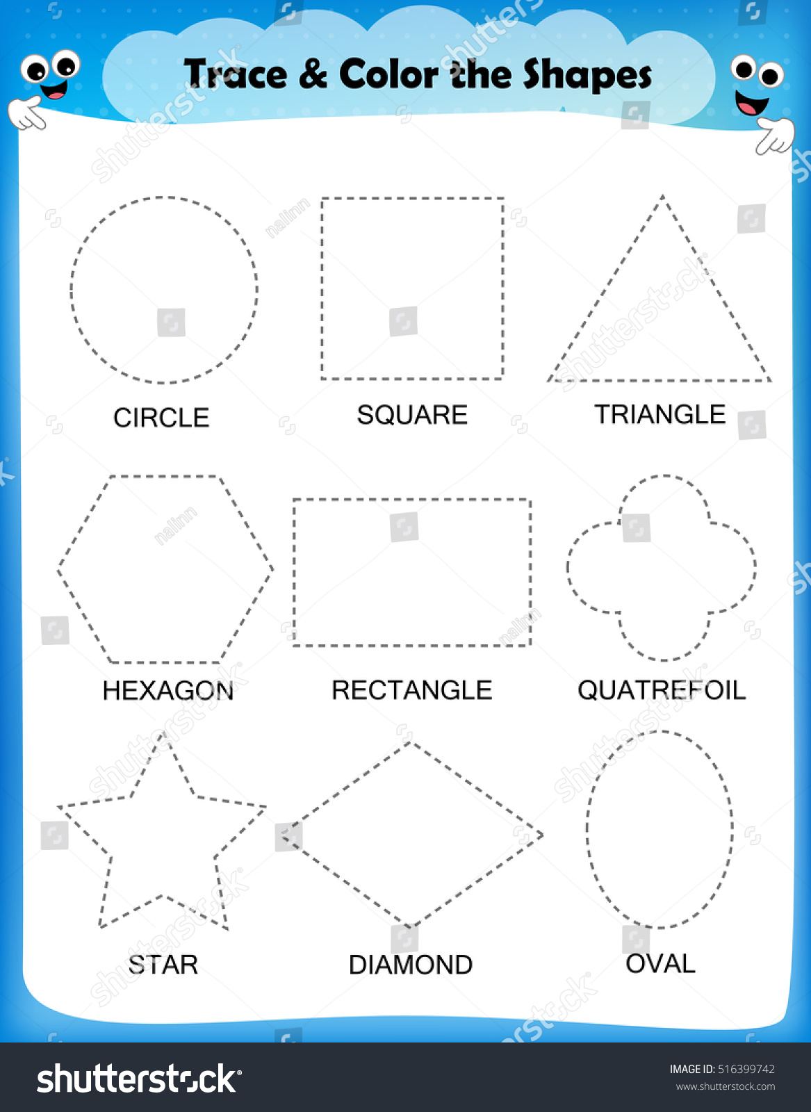 Kidzone Preschool Shapes Worksheet