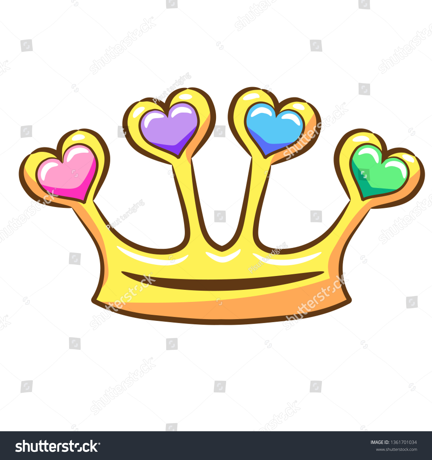 hight resolution of princess crown clipart vector