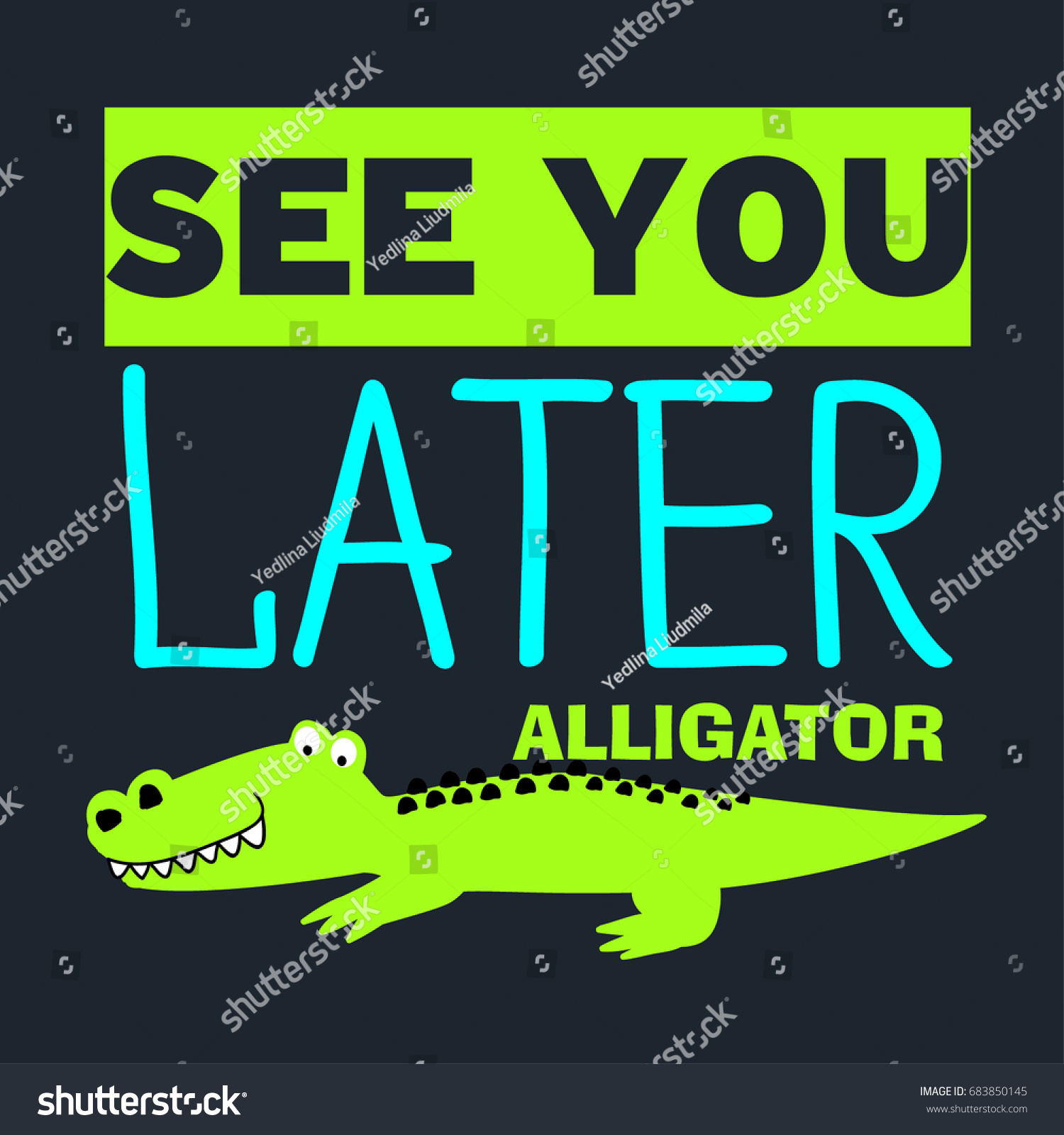 Print On Tshirt See You Later Stock Vector