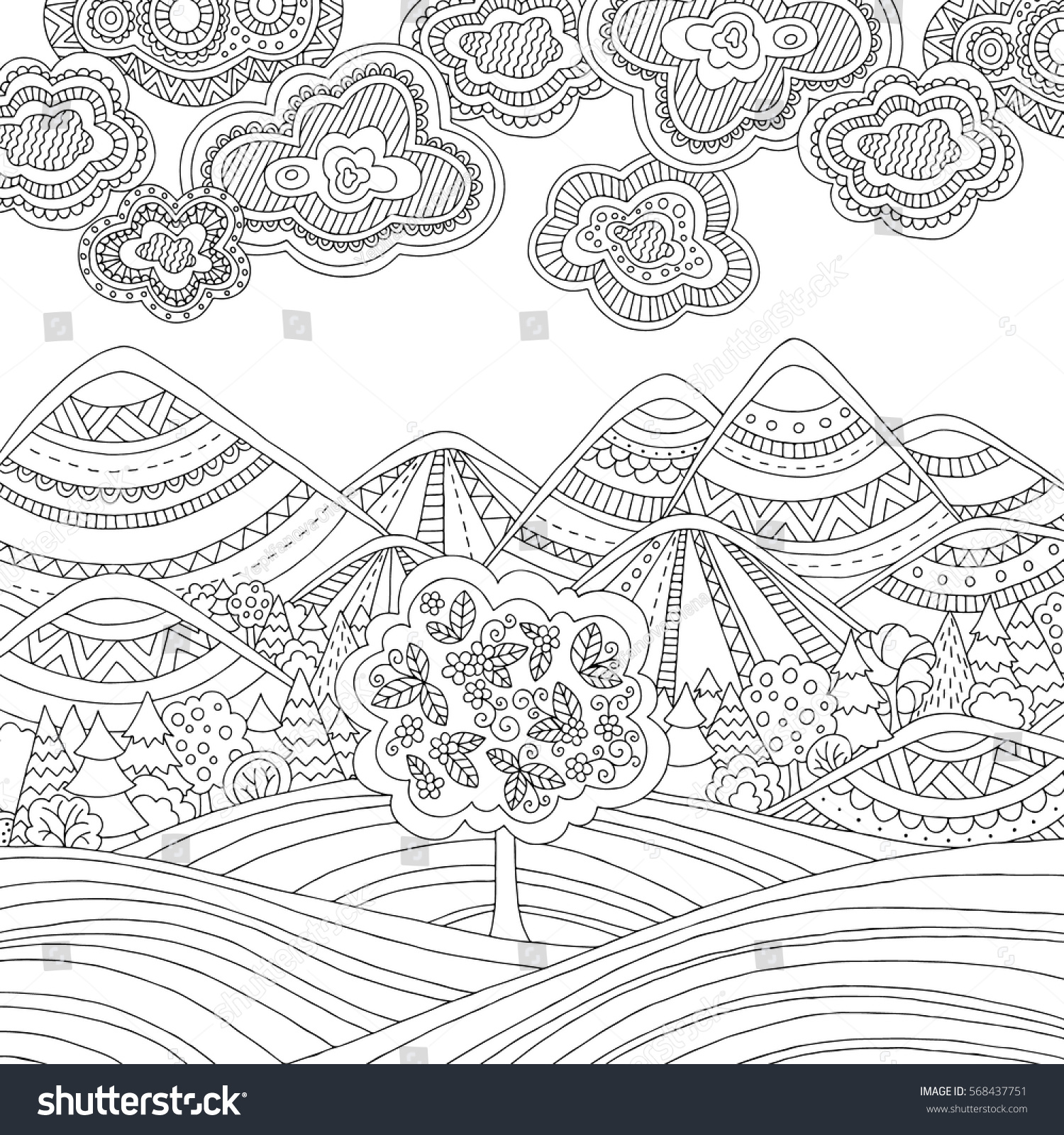 Doodle Art Colouring Book