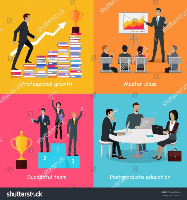Professional Growth Successful Team Master Class Stock