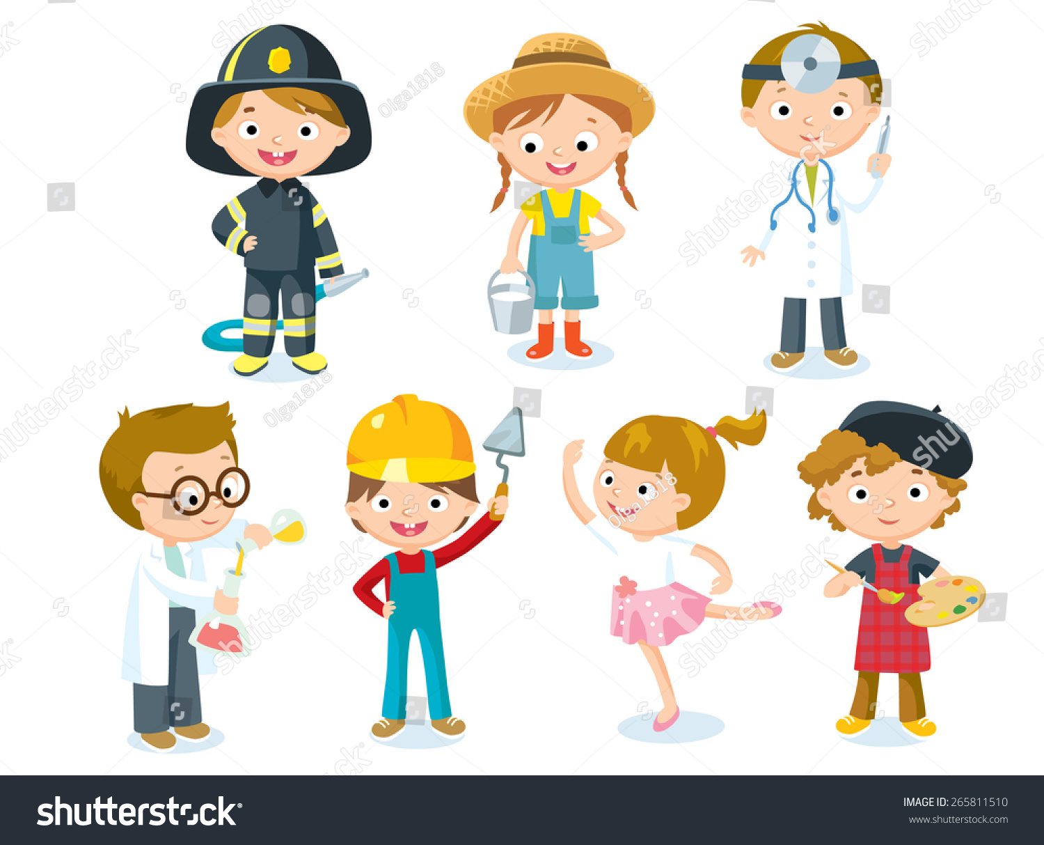 Professions Kids Stock Vector