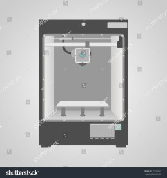 prototype model of 3d printer in gray and white colors easy to place inside printer [ 1500 x 1600 Pixel ]