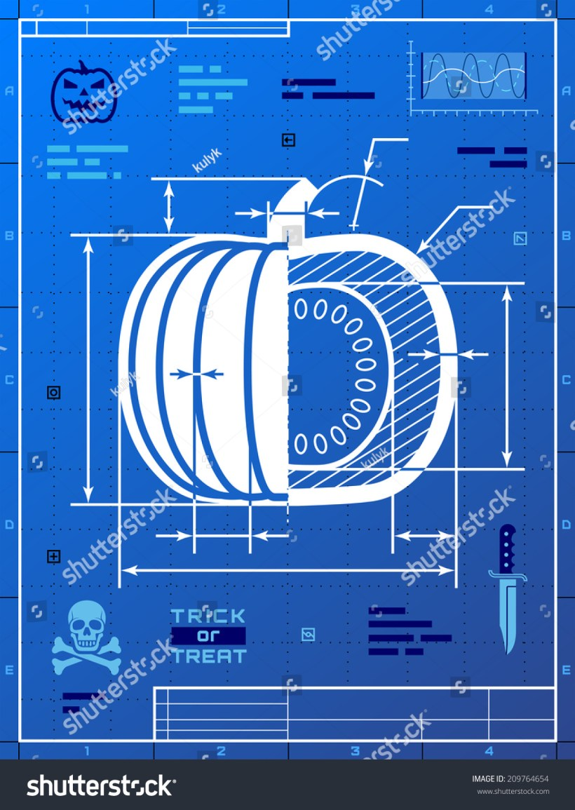 Image blueprint drafting bedwalls pumpkin image like blueprint drawing stylized stock vector malvernweather Image collections