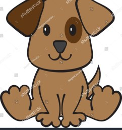 puppy dog clipart vector illustration [ 1359 x 1600 Pixel ]