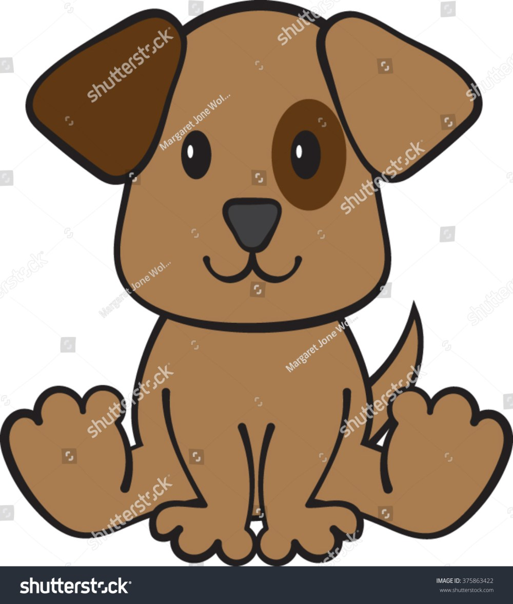 medium resolution of puppy dog clipart vector illustration
