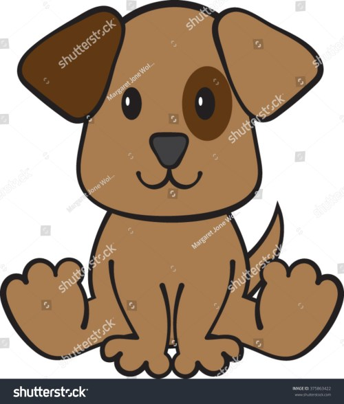 small resolution of puppy dog clipart vector illustration