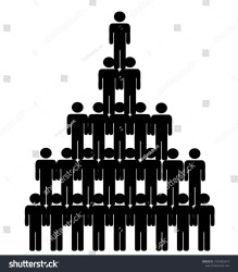 Pyramid Social Class Rich Poor People Stock Vector Royalty Free 1595982874