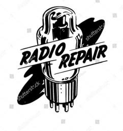 radio repair 1 ad header retro clipart [ 1200 x 1600 Pixel ]
