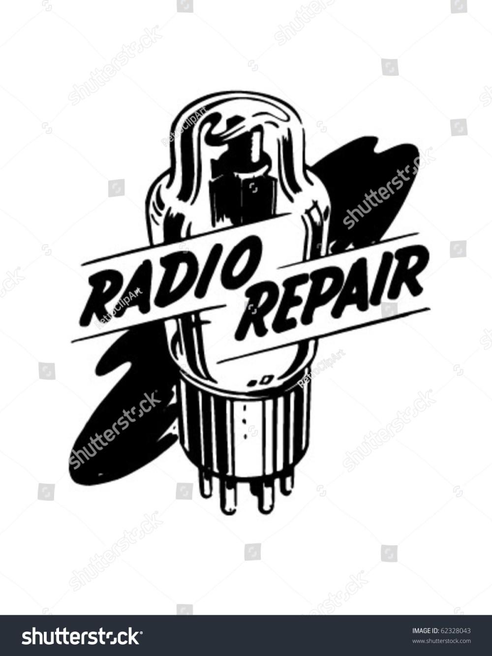 medium resolution of radio repair 1 ad header retro clipart