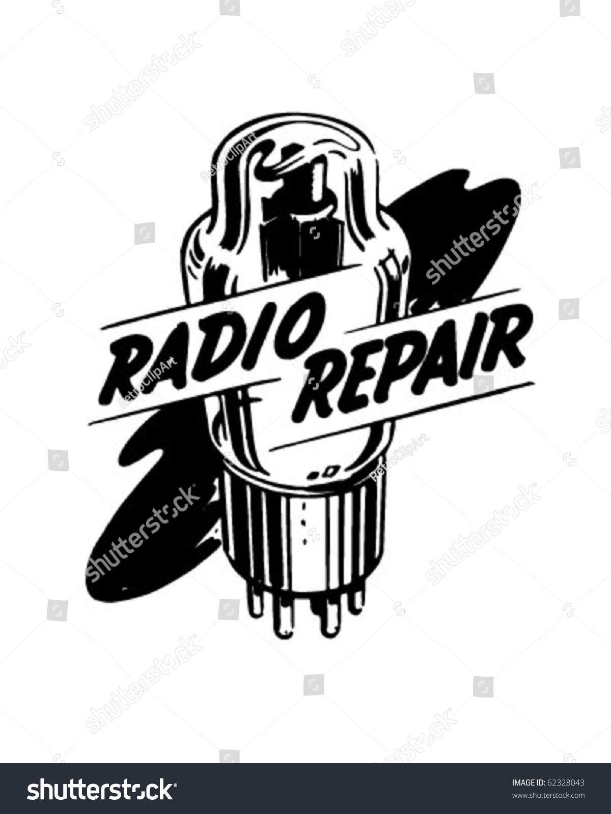 hight resolution of radio repair 1 ad header retro clipart