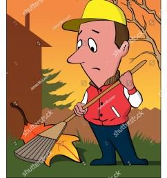 raking leaf a man rakes a very large leaf  [ 1232 x 1600 Pixel ]
