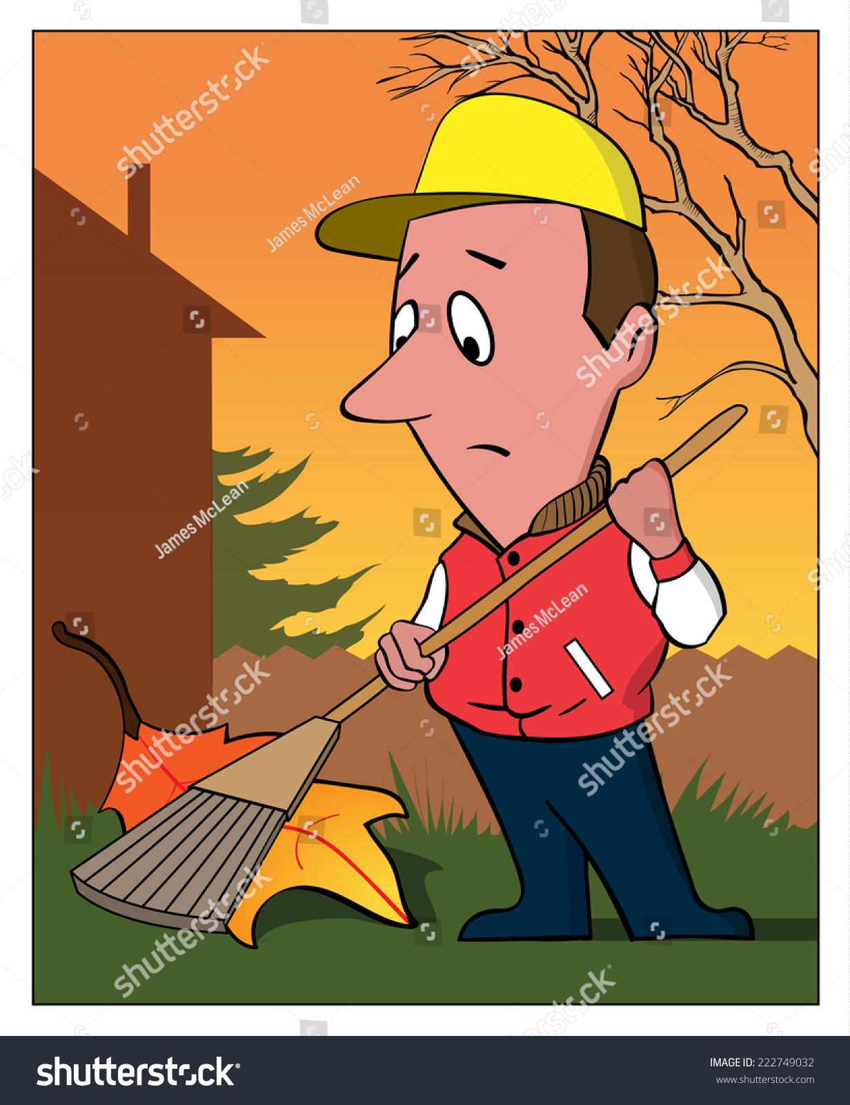 hight resolution of raking leaf a man rakes a very large leaf