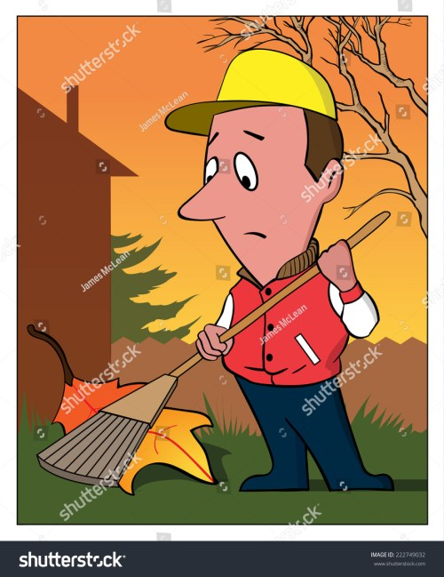 small resolution of raking leaf a man rakes a very large leaf