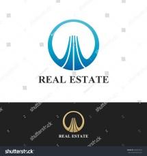 Real Estate Logo House Icon Property Stock Vector