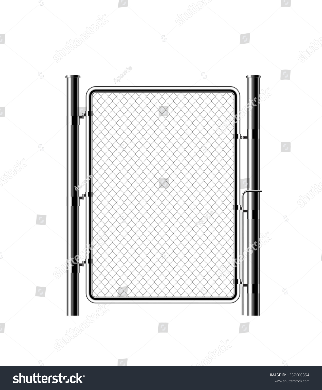 hight resolution of realistic metal chain link fence rabitz art design gate cemetery fence hedge