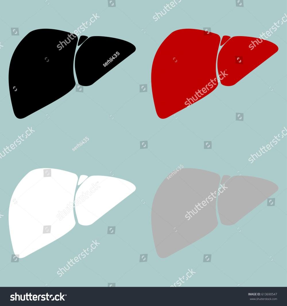 medium resolution of red black grey white liver hepar icon set icons