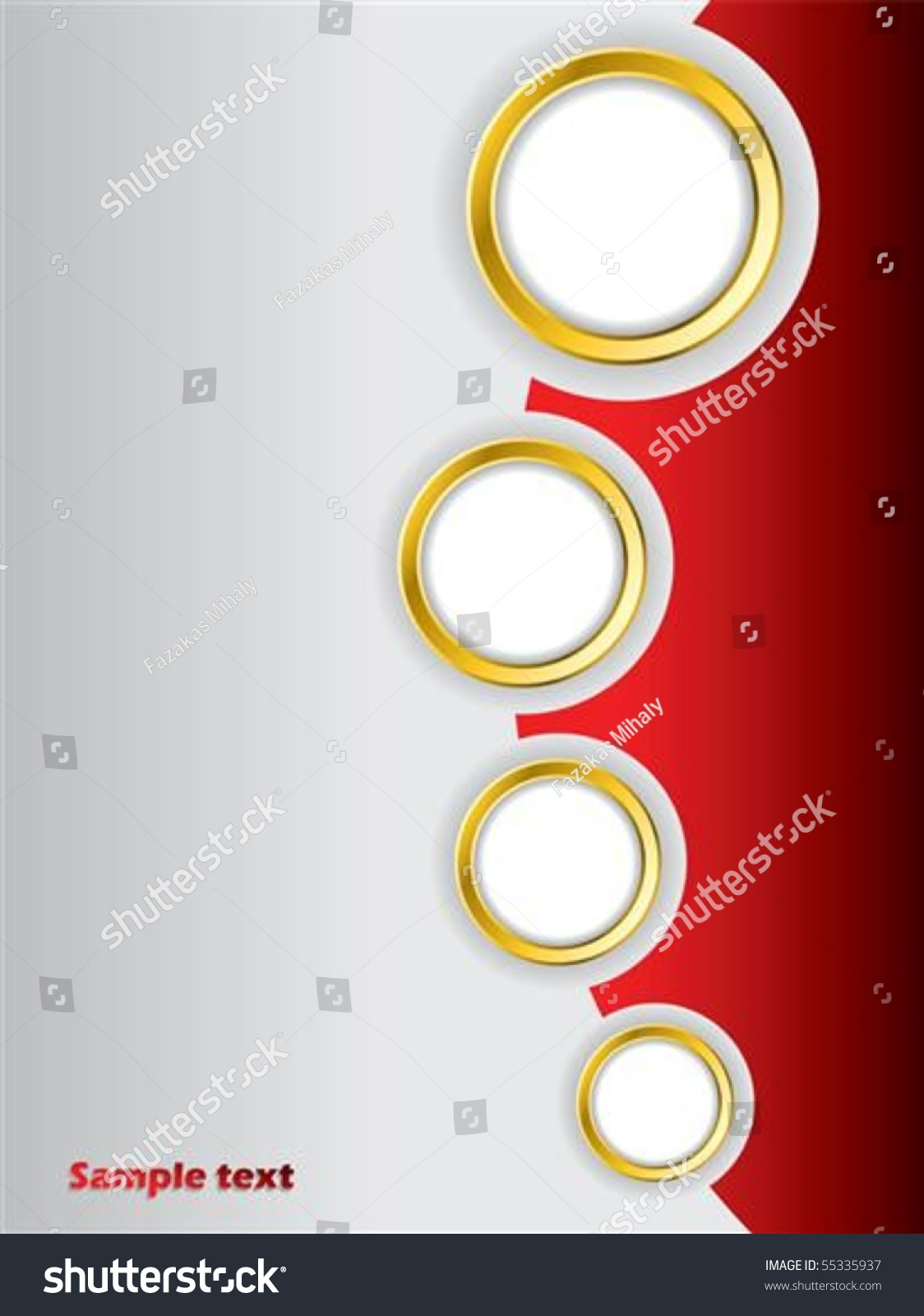 Red Brochure Design Background Template Stock Vector