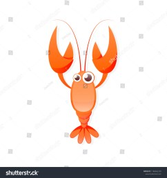 red crayfish icon clipart image isolated on white background [ 1500 x 1600 Pixel ]
