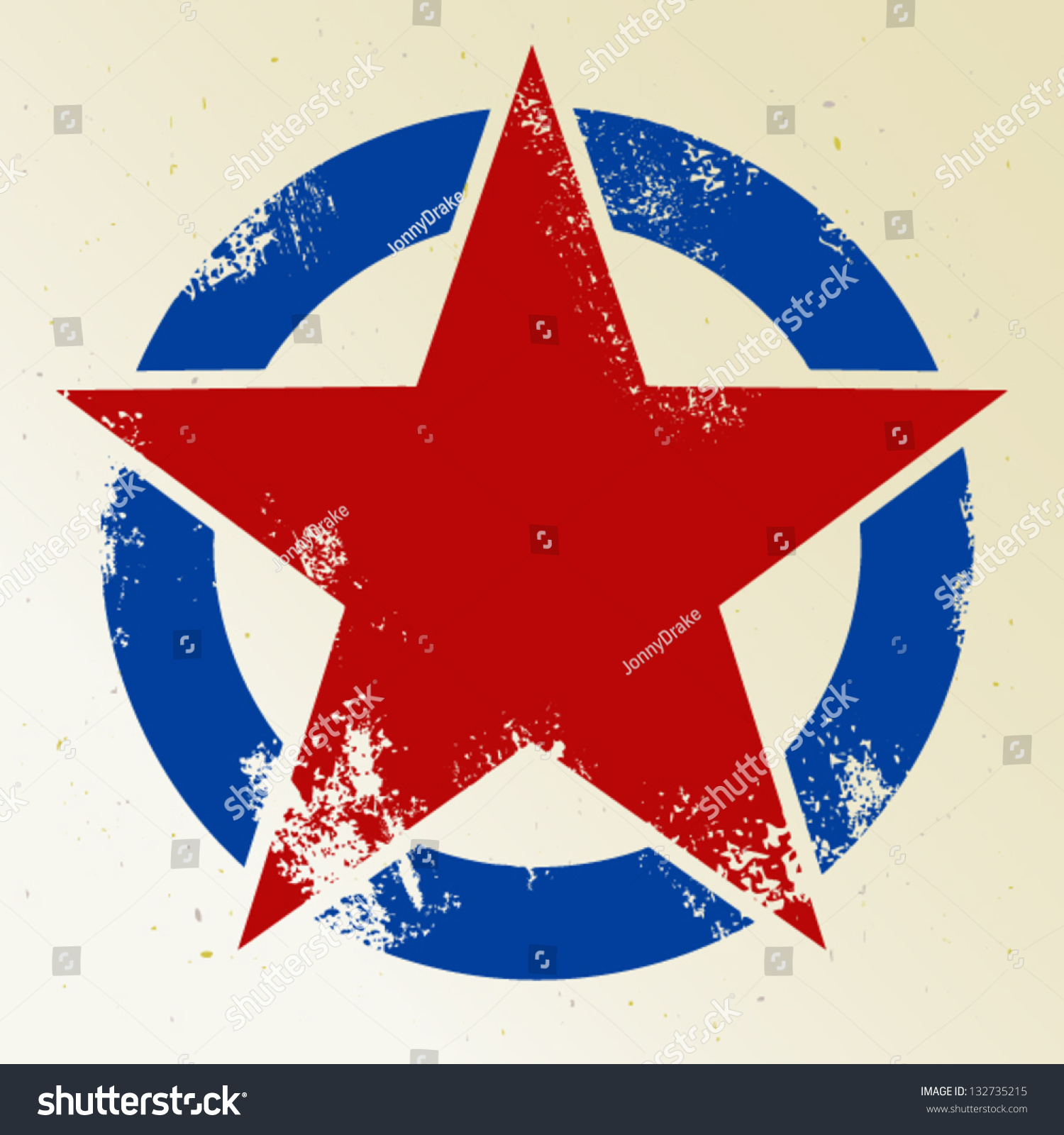 Red Star In Circle Stock Vector Shutterstock