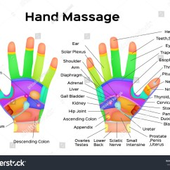 Foot Nerve Endings Diagram Small Engine Ignition Switch Wiring Reflexology Handheld Hands Palms Health Massage Stock