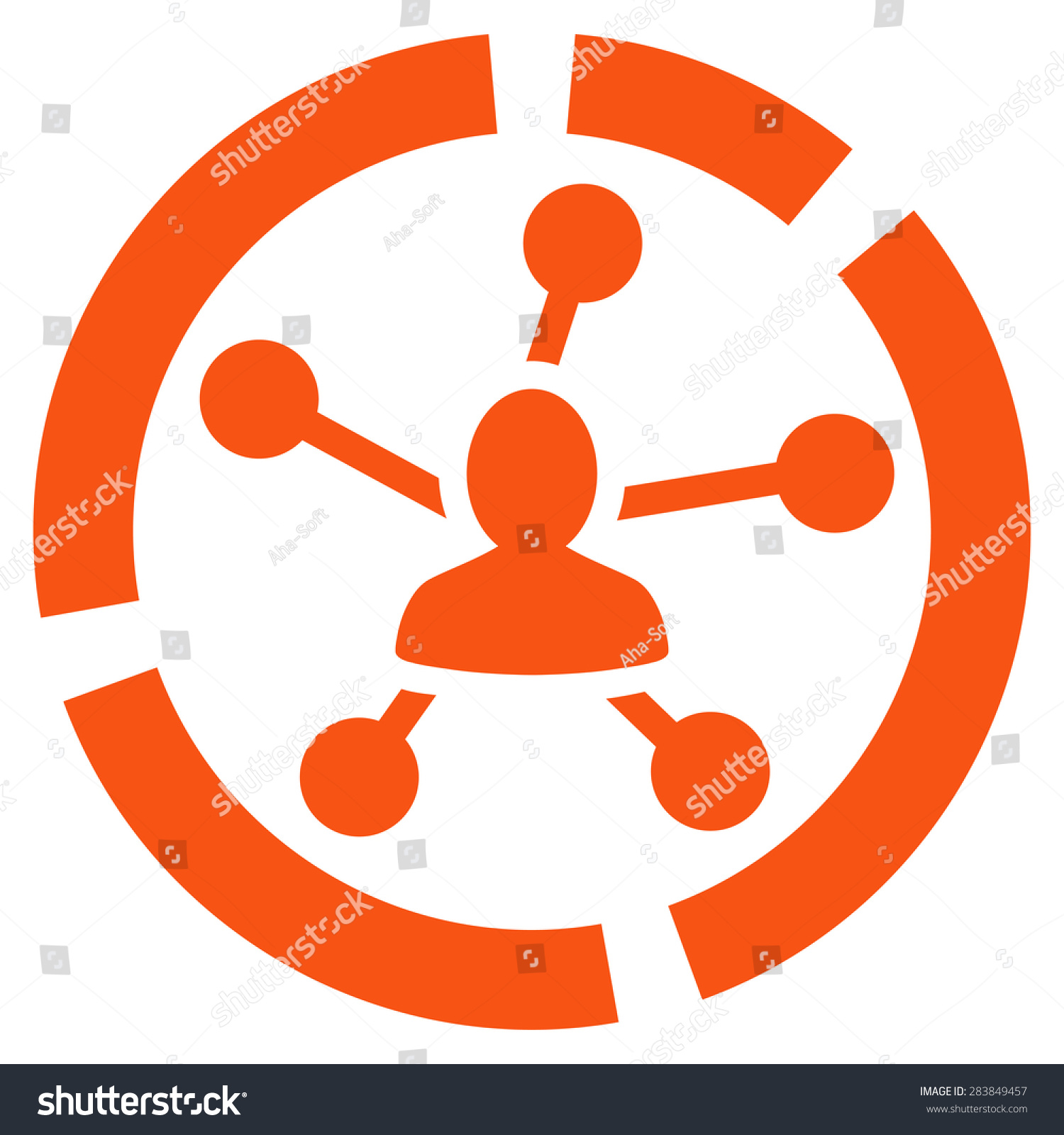 hight resolution of relations diagram icon from business bicolor set vector style flat symbol orange color