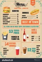 menu background food restaurant vector format shutterstock eps10