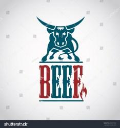 beef icon meat menu restaurant shutterstock vector