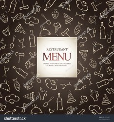menu background restaurant icons food vector shutterstock
