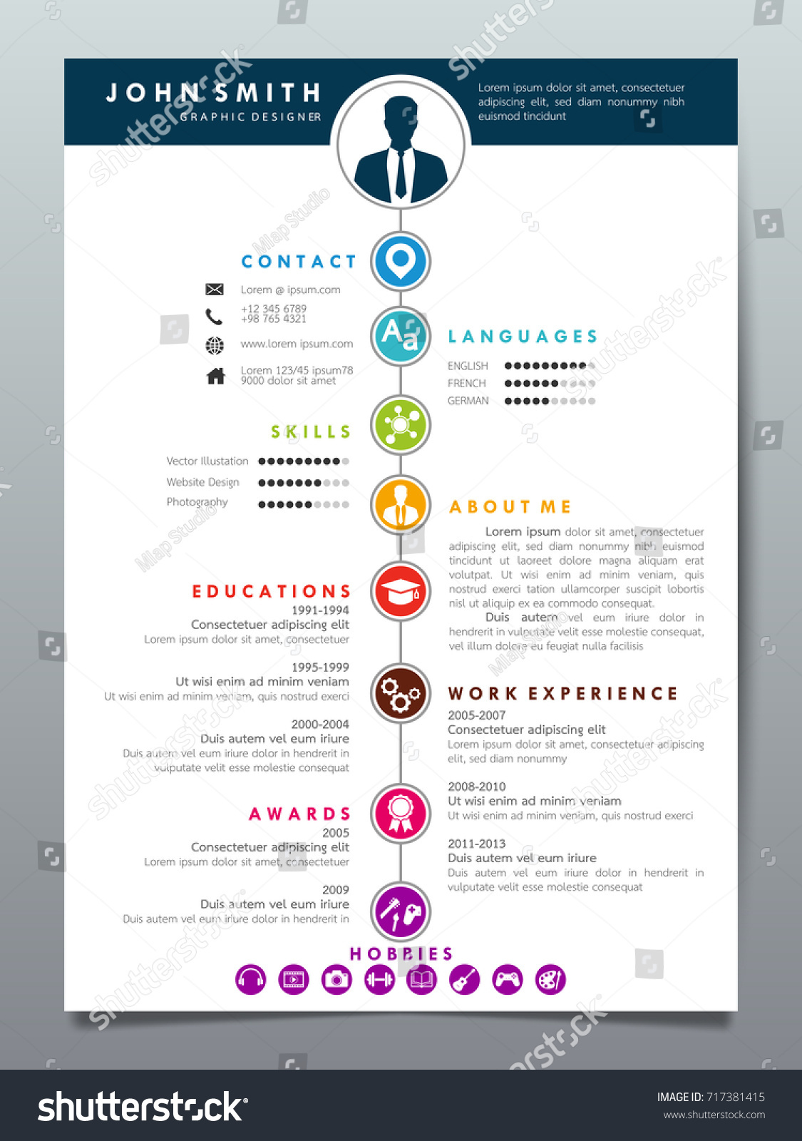 Resume Design Template. Classic Resume Design Template Set Classic ...