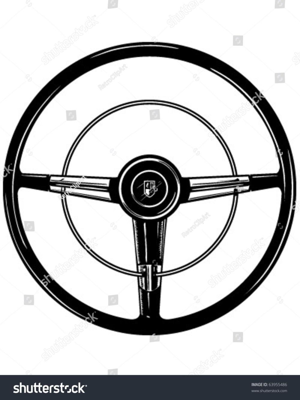 medium resolution of retro steering wheel clipart illustration