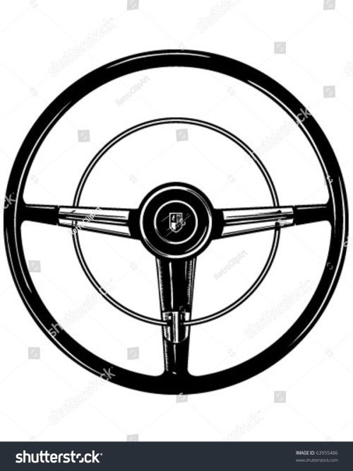 small resolution of retro steering wheel clipart illustration
