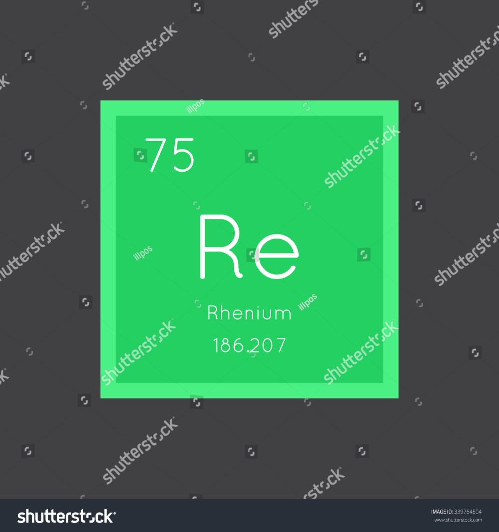 medium resolution of rhenium simple style tile icon chemical element of periodic table vector illustration eps8