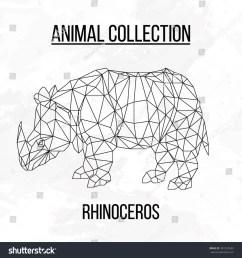 rhino rhinoceros head geometric lines silhouette logo badge icon isolated on white background vintage vector design [ 1500 x 1600 Pixel ]