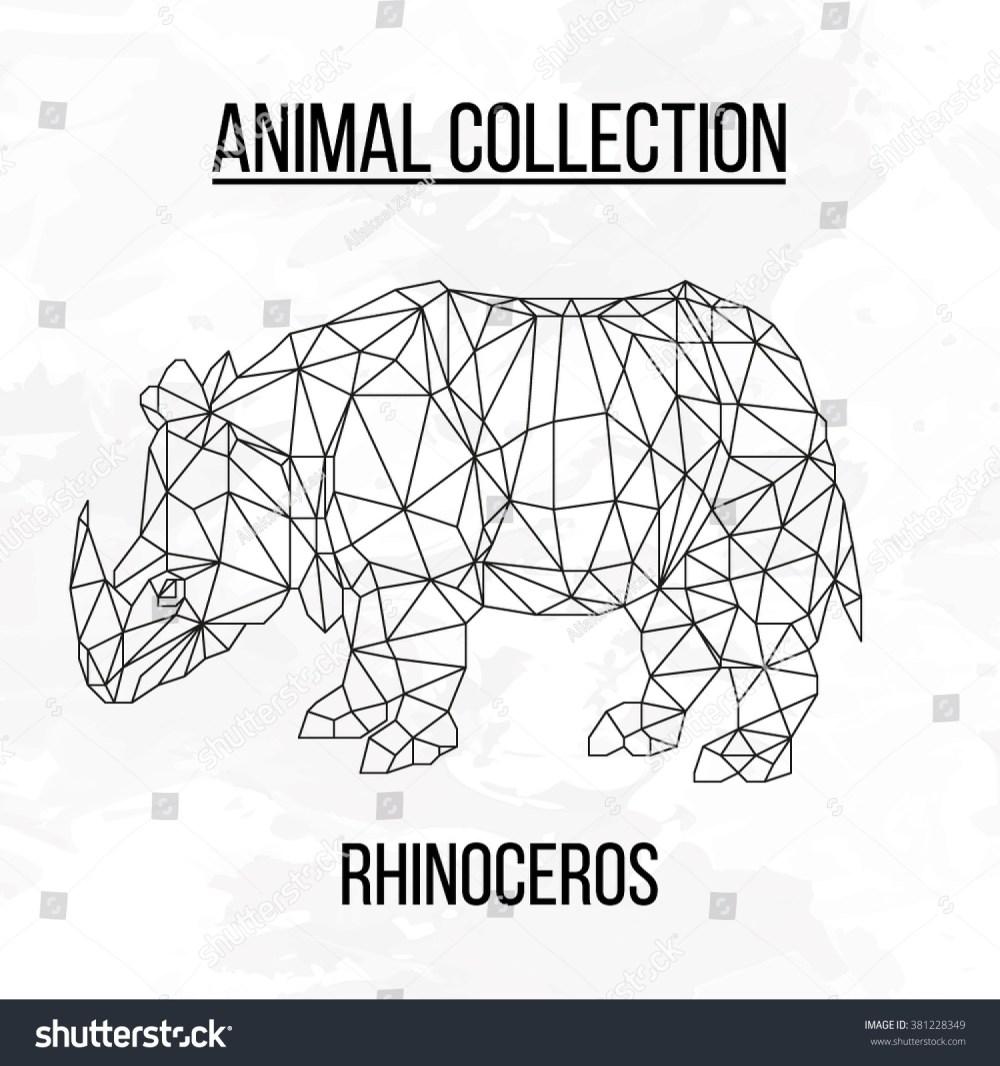 medium resolution of rhino rhinoceros head geometric lines silhouette logo badge icon isolated on white background vintage vector design
