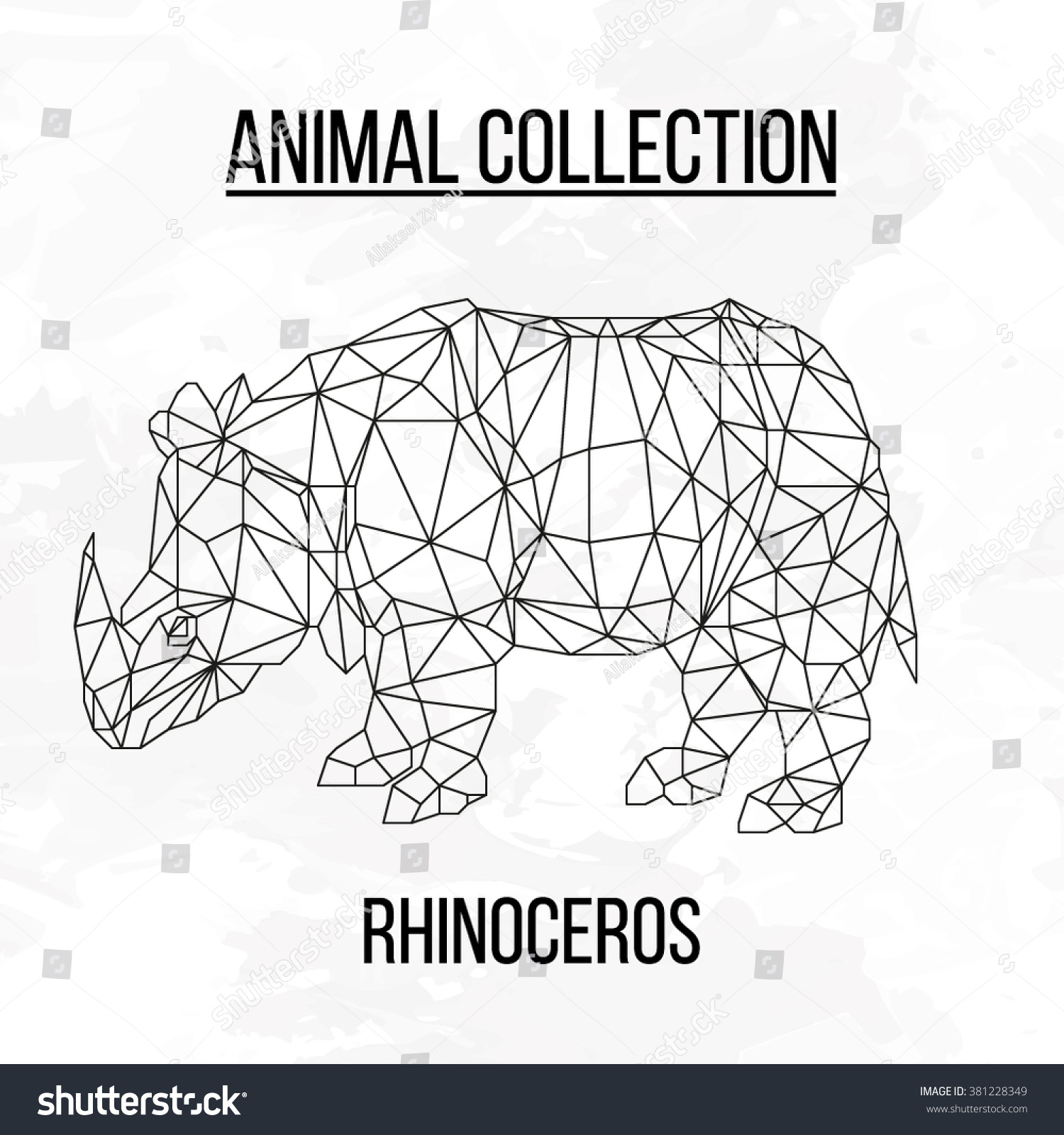 hight resolution of rhino rhinoceros head geometric lines silhouette logo badge icon isolated on white background vintage vector design
