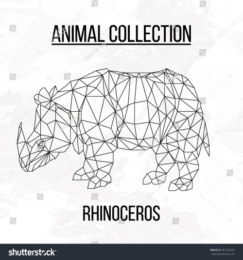 small resolution of rhino rhinoceros head geometric lines silhouette logo badge icon isolated on white background vintage vector design