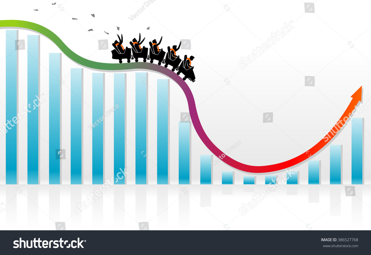 Roller Coaster Graph Recovery Stock Vector Illustration Shutterstock