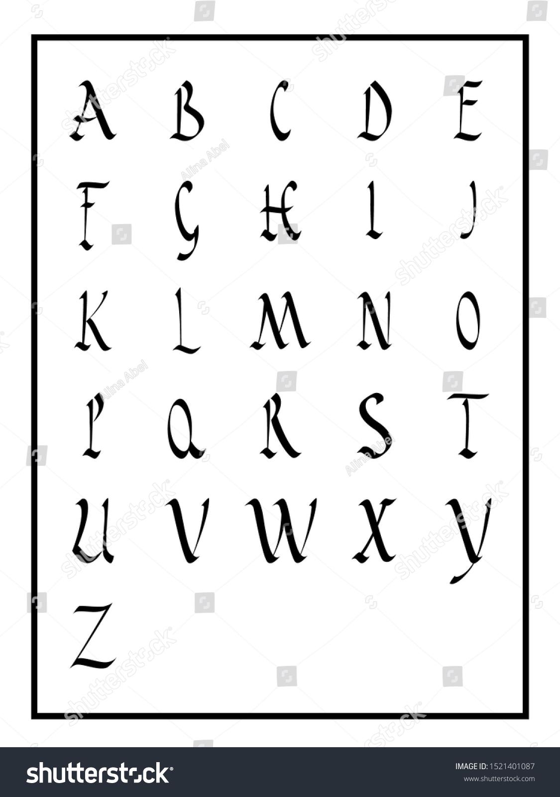 Capital S Calligraphy : capital, calligraphy, Roman, Rustic, Calligraphy, Alphabet, Capitals, Stock, Vector, (Royalty, Free), 1521401087