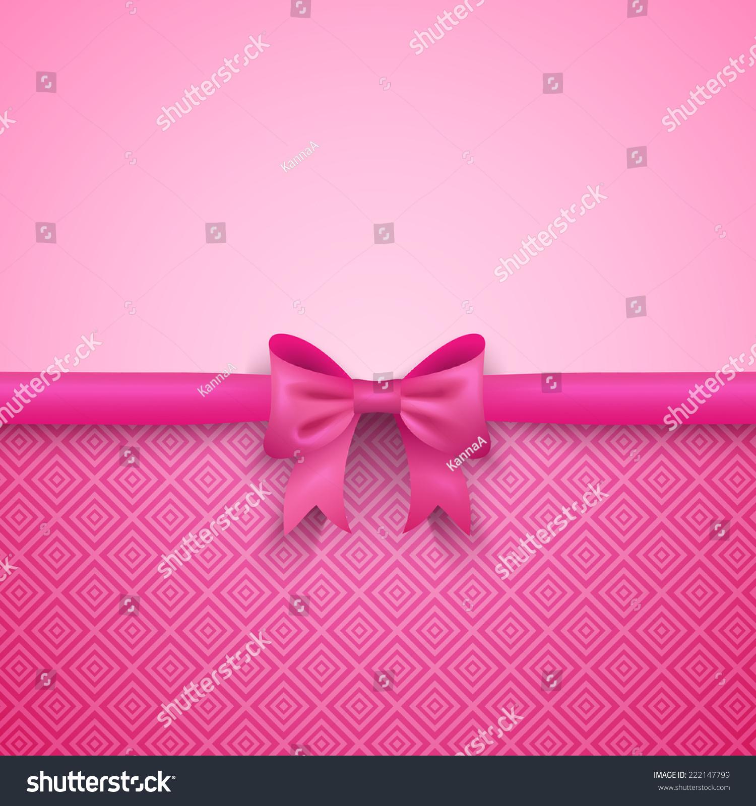 Pink Bow Pattern Wallpaper