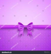 Romantic Vector Purple Background With Cute Bow And ...